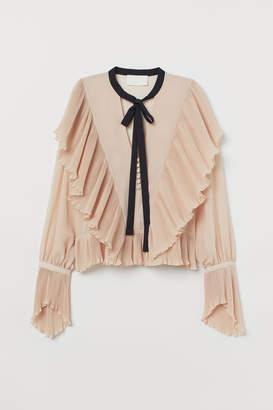 H&M Pleated chiffon blouse