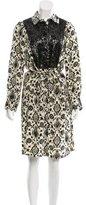 Figue Floral Print Silk Dress w/ Tags