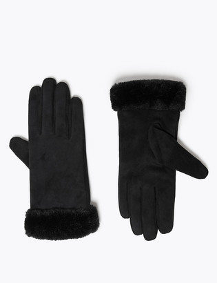 Marks and Spencer Faux Sheepskin Gloves