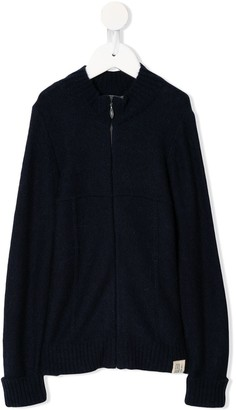 Bonpoint Relaxed-Fit Zip-Up Cardigan