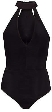Alice + Olivia Women's Bechette Choker Halterneck Bodysuit