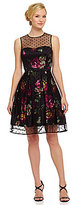 Eliza J Floral Fit-and-Flare Dress