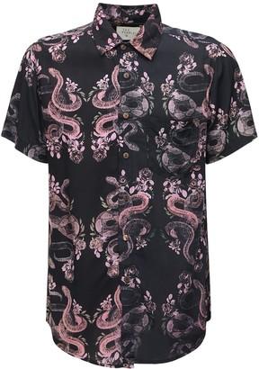 The People Vs Snake Printed Rayon Stevie Shirt