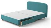 Silentnight Double 2 Drawer Curved Bed Frame - Teal