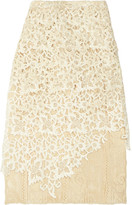 Balenciaga Layered Guipure Lace Skirt - Ivory