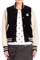 Marc Jacobs Mickey Fur Varsity Jacket