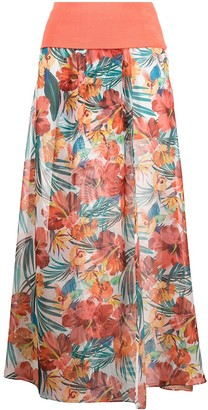 Patrizia Pepe Floral Print Maxis Skirt