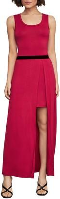 BCBGMAXAZRIA Twofer Knit Maxi Dress