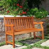 Vifah Harley All Weather Bench in Natural Wood
