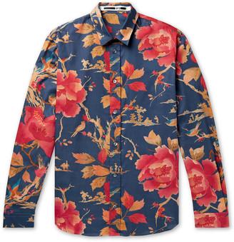 McQ Floral-Print Cotton-Twill Shirt