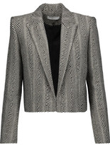 IRO Toni Cropped Metallic Wool-Blend Blazer