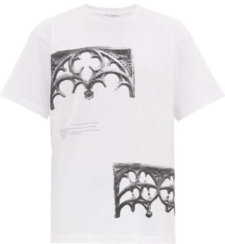 J.W.Anderson Gothic-print Cotton T-shirt - Mens - White