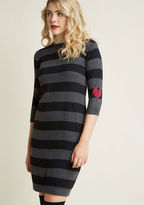 Sugarhill Boutique Sweetest Stripes Sweater Dress in 14 (UK) - Shell Midi by from ModCloth