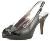 Rampage Fasher Women Peep-toe Synthetic Black Slingback Heel.