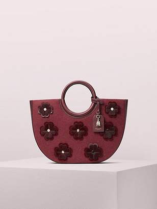Kate Spade On Purpose Floral Applique Circle Tote