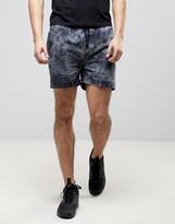 Illusive London Tie Dye Shorts In Black