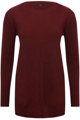 M&Co Spirit cable knit tunic jumper