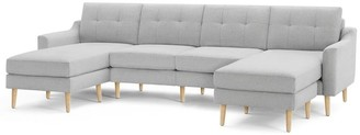 "west elm Burrow Nomad King Sectional with Double Chaise (112"")"
