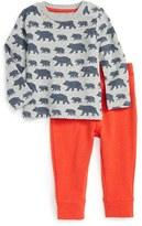 Toddler Boy's Mini Boden Cozy Arctic Stretch Cotton T-Shirt & Pants Set