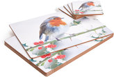 Marks and Spencer Set of 4 Robin Placemat & Coaster