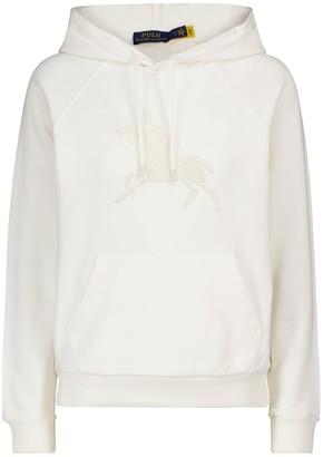 Polo Ralph Lauren Embellished cotton hoodie