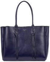 Navy Leather Handbag - ShopStyle UK