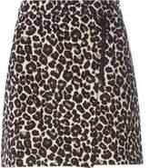 Dorothy Perkins Womens Leopard Print Jacquard Mini Skirt- Leopard