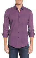 Stone Rose Men's Slim Fit Geo Knit Sport Shirt