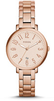 Fossil Jacqueline Date Rose-Tone Stainless Steel Watch