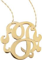 Jennifer Zeuner Jewelry Swirly Initial Necklace, J