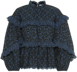 Ulla Johnson Isa ruffled floral cotton blouse