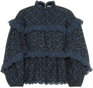 Ulla Johnson Isa ruffled floral cotton blouse
