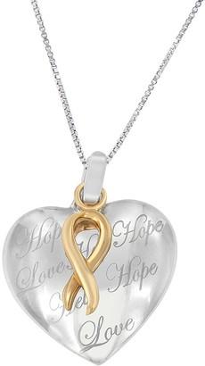 Original Classics 10k Gold over Silver Heart Pendant Necklace