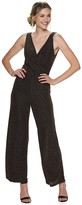 Candies Juniors' Candie's Twist Front V-Neck Sparkle Jumpsuit