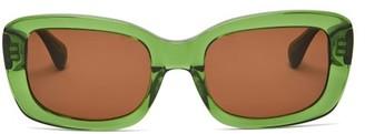Sun Buddies Junior Square Acetate And Metal Sunglasses - Green