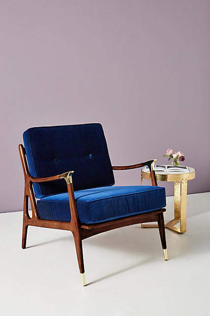 Pleasing Blue Velvet Chairs Shopstyle Ibusinesslaw Wood Chair Design Ideas Ibusinesslaworg