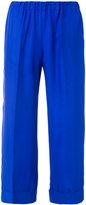 P.A.R.O.S.H. wide leg cropped trousers - women - Silk - S