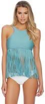 Luxe by Lisa Vogel Fringe Benefits High Neck Tankini