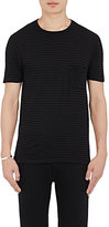 Barneys New York Men's Striped Cotton-Blend T-Shirt-BLACK