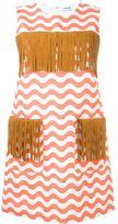 Au Jour Le Jour zigzag detail fringed dress - women - Acetate/Cupro/Cotton/Polyurethane - 38