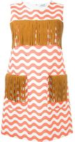 Au Jour Le Jour zigzag detail fringed dress - women - Cotton/Linen/Flax/Polyester/Cupro - 38
