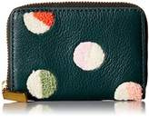 Fossil MINI WALLET RFID MINI ZIP CARD CASE ALPINE GREEN Credit Card Holder