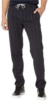 Eleventy Pinstripe Suiting Jogger Pants (Navy) Men's Casual Pants