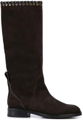See by Chloe eyelet trim boots