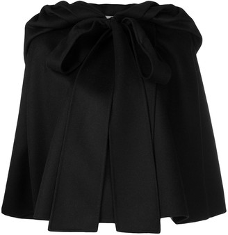 Valentino gathered cap sleeve cape