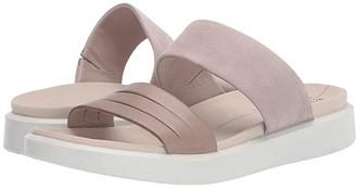 Ecco Flowt Slide Sandal (Moon Rock/Grey Rose Cow Leather/Cow Nubuck) Women's Slide Shoes