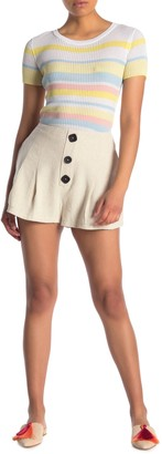 Lush High Waisted Button Front Shorts