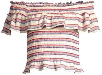 Parker Lizette Off-The-Shoulder Stripe Top