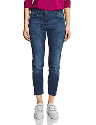 Cecil Women's 372005 Toronto Slim Jeans, (Light Blue Used Wash 10349), 26W x 28L