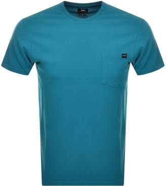 Edwin Crew Neck Pocket T Shirt Blue